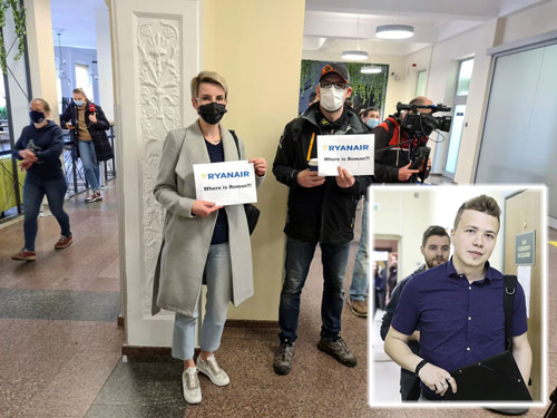 Belarus ép máy bay hạ cánh, EU nổi giận - Ảnh 1.