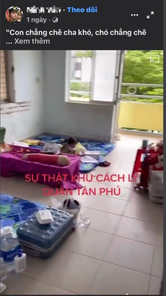 UBND quận Tân Phú giải thích về clip sự thật khu cách ly... gây xôn xao mạng xã hội - Ảnh 1.