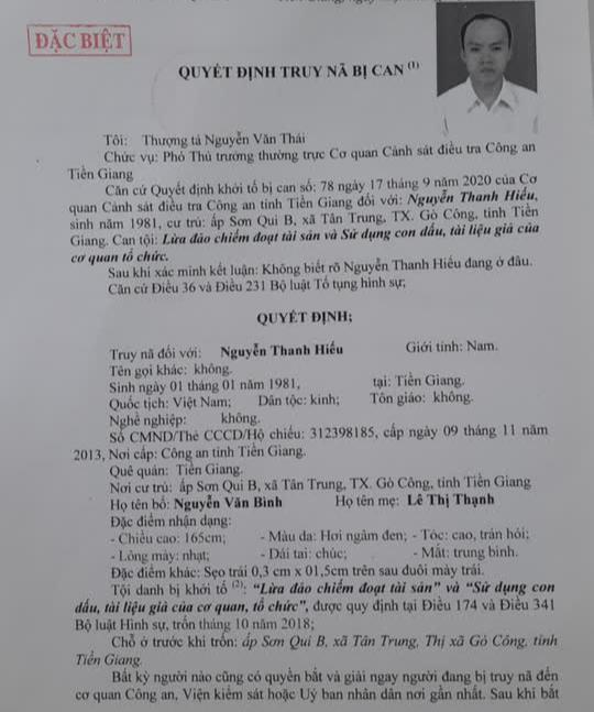 Ai cũng có quyền bắt đối tượng truy nã đặc biệt Nguyễn Thanh Hiếu - Ảnh 1.