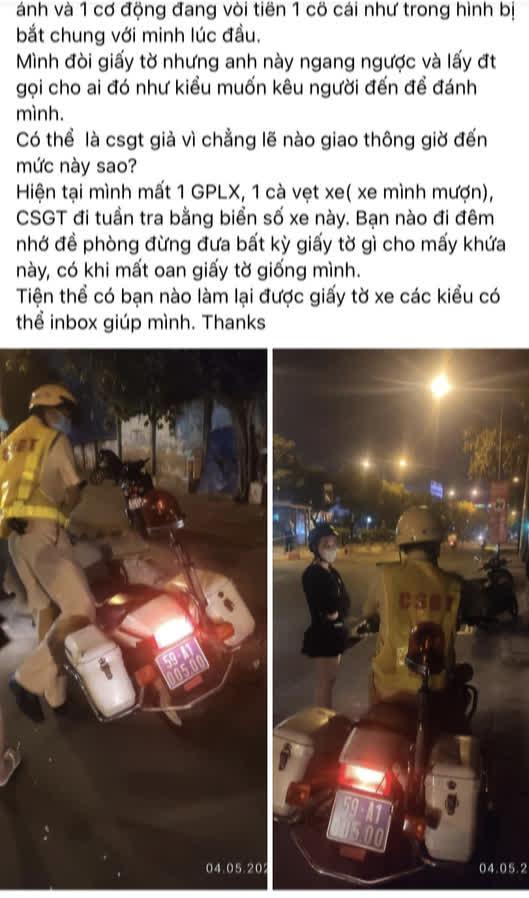CSGT Tân Sơn Nhất xin lỗi về vụ phạt nhầm gây xôn xao mạng xã hội - Ảnh 2.