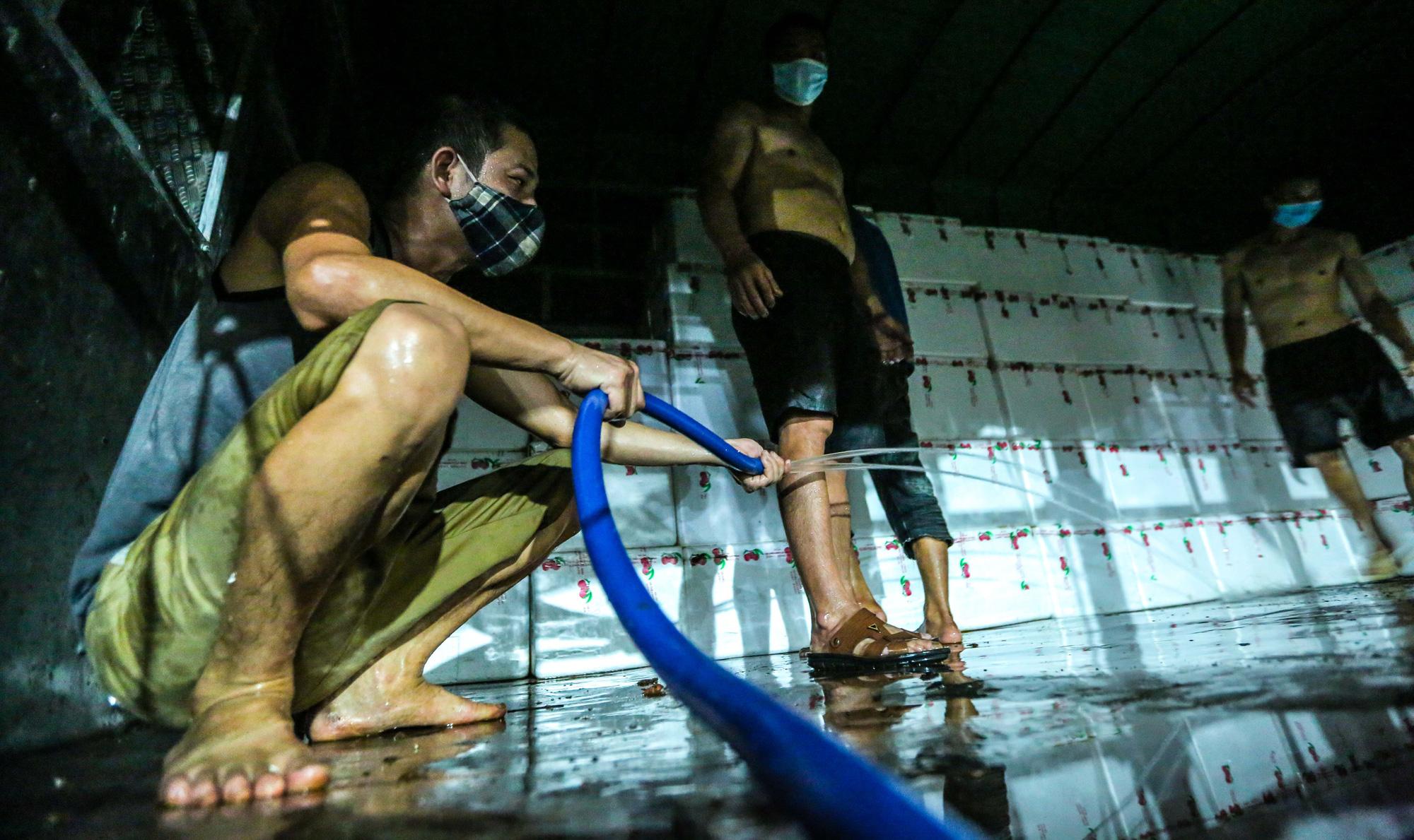 CLIP: Xuyên đêm đóng gói vải đưa sang Trung Quốc tiêu thụ - Ảnh 15.