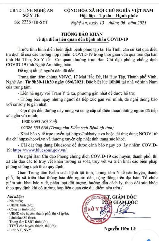 KHẨN: Tìm người liên quan tới ca bệnh từ Hà Tĩnh đưa con ra TP Vinh tiêm chủng - Ảnh 2.