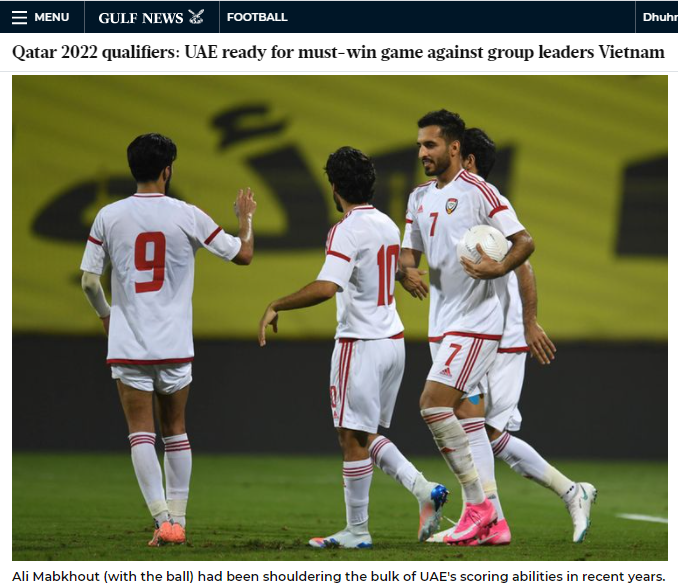 Truyền thông UAE nói gì trước trận đấu với tuyển Việt Nam? - Ảnh 3.