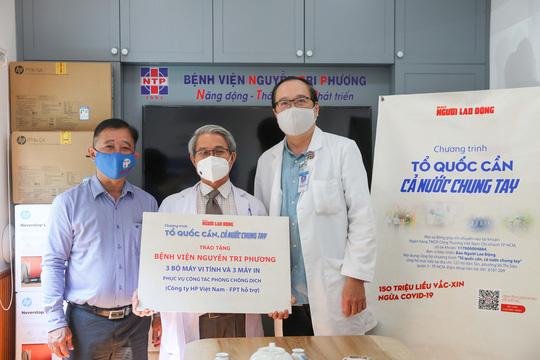 Giám đốc Bệnh viện Nguyễn Tri Phương: Cảm ơn sự hỗ trợ thiết thực của Báo Người Lao Động! - Ảnh 6.