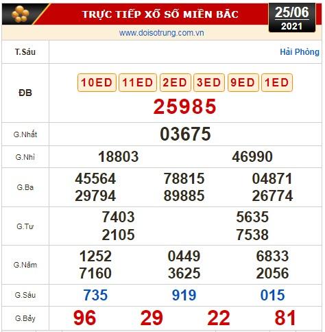 Kết quả xổ số hôm nay 25-6: Vĩnh Long, Bình Dương, Trà Vinh, Gia Lai, Ninh Thuận, Hải Phòng - Ảnh 2.