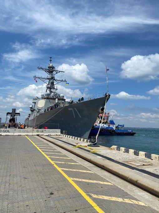Mỹ đưa tàu khu trục tên lửa dẫn đường tới Ukraine - Ảnh 2.