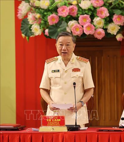 Chùm ảnh: Tổng Bí thư dự Lễ công bố Đảng ủy Công an Trung ương nhiệm kỳ mới - Ảnh 9.