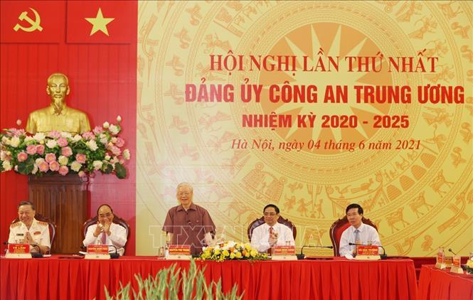 Chùm ảnh: Tổng Bí thư dự Lễ công bố Đảng ủy Công an Trung ương nhiệm kỳ mới - Ảnh 6.
