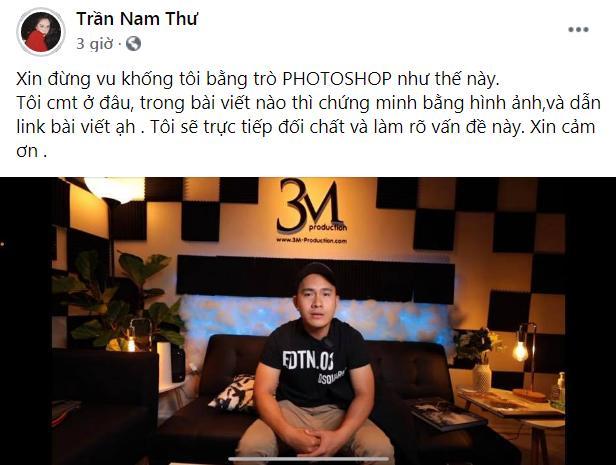 Nam Thư bức xúc vì bị photoshop đoạn bình luận nhạy cảm với con trai Hoài Linh - Ảnh 3.