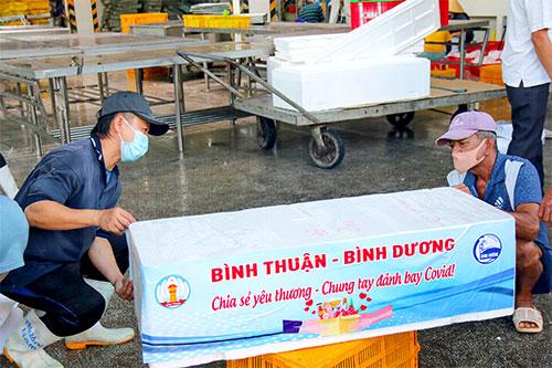 Bình Thuận hỗ trợ thanh long, hải sản cho TP HCM và Bình Dương - Ảnh 2.