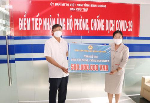 Tổng LĐLĐ Việt Nam hỗ trợ tỉnh Bình Dương phòng chống Covid-19 - Ảnh 1.