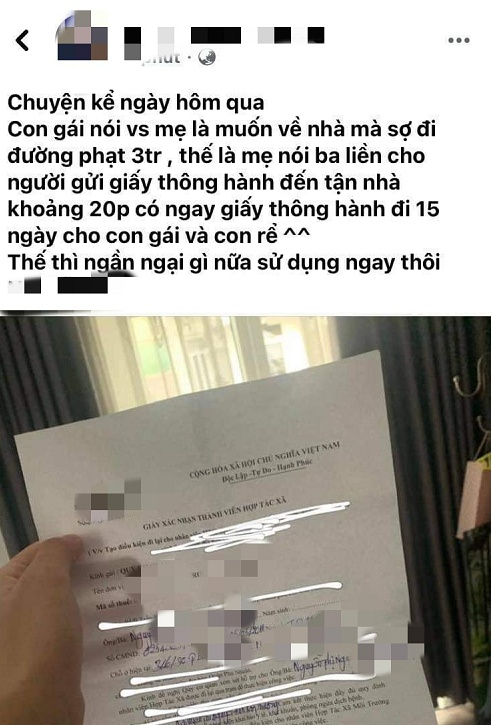 TP HCM: Lãnh đạo quận Phú Nhuận lên tiếng vụ giám đốc HTX ký giấy thông hành cho con gái - Ảnh 1.
