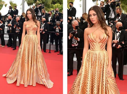 """Mốt """"thả rông"""" tiếp tục được chuộng trên thảm đỏ Cannes 2021 - Ảnh 1."""