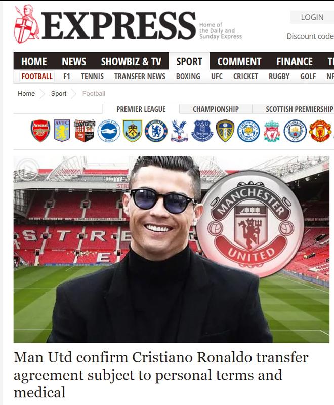 Ronaldo tái hợp Man United: Truyền thông thế giới việt vị, trang chủ Quỷ đỏ sập nguồn - Ảnh 3.
