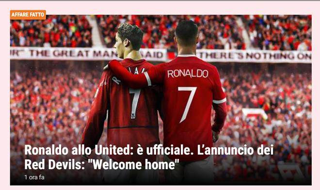 Ronaldo tái hợp Man United: Truyền thông thế giới việt vị, trang chủ Quỷ đỏ sập nguồn - Ảnh 6.