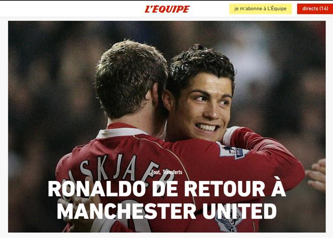 Ronaldo tái hợp Man United: Truyền thông thế giới việt vị, trang chủ Quỷ đỏ sập nguồn - Ảnh 5.