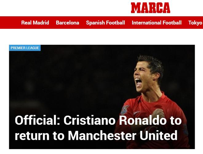 Ronaldo tái hợp Man United: Truyền thông thế giới việt vị, trang chủ Quỷ đỏ sập nguồn - Ảnh 4.