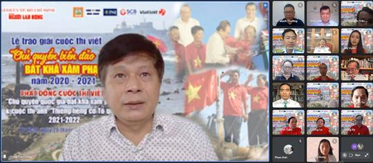 Báo Người Lao Động trao giải cuộc thi viết Chủ quyền biển đảo bất khả xâm phạm - Ảnh 2.