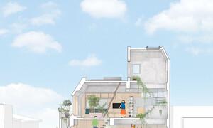 Căn nhà dành riêng cầu thang cho cây xanh - Ảnh 12.