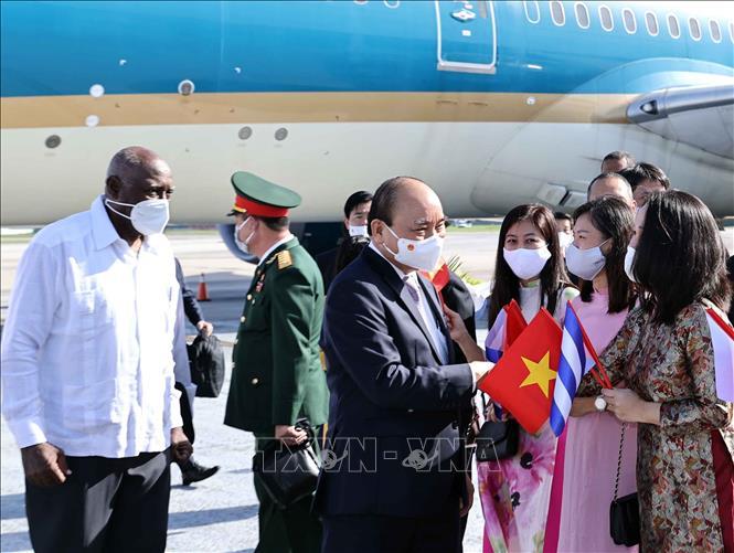 Chủ tịch nước Nguyễn Xuân Phúc đến Cuba - Ảnh 4.