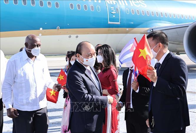 Chủ tịch nước Nguyễn Xuân Phúc đến Cuba - Ảnh 5.