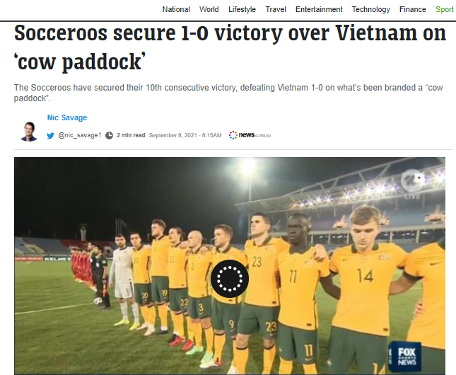 Thắng Việt Nam thiếu thuyết phục, báo chí Úc chê sân Mỹ Đình là bãi chăn bò - Ảnh 3.