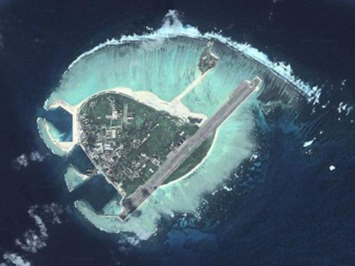Đảo Phú Lâm thuộc quần đảo Hoàng Sa của Việt Nam đang bị Trung Quốc chiếm đóng trái phép