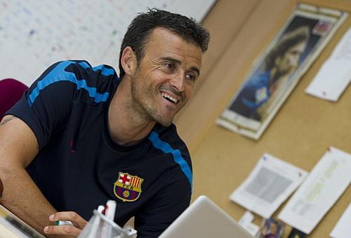 Luis Enrique hạnh phúc với chiến thắng