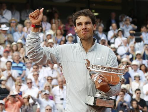 Tên tuổi Nadal gắn với thành công ở Roland Garros