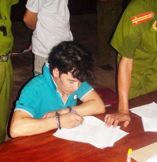 Nguyễn Trọng Cảnh bị cơ quan điều tra công an bắt giữ. ( Ảnh của cơ quan điều tra)