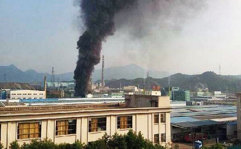 Vụ nổ xảy ra ở Công ty hóa chất Ming, nằm trong Đặc khu Kinh tế TP Lishui. Ảnh: SCMP