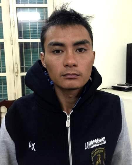 Nghi can Lê Quang Linh tại cơ quan điều tra - Ảnh: ANTĐ
