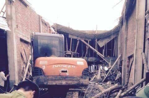 Hiện trường vụ tai nạn lao động khiến 1 người chết, 5 người bị thương - Ảnh CTV