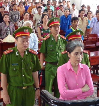 Thạch Thị Soi tại phiên tòa xét xử sơ thẩm.