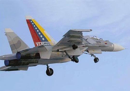 Chiến đấu cơ Sukhoi-30 của Venezuela. Ảnh: Panorama
