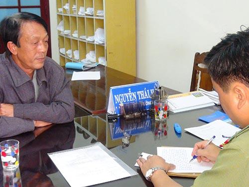 Công an tỉnh Quảng Nam lấy lời khai của ông Nguyễn Xuân Hiệp