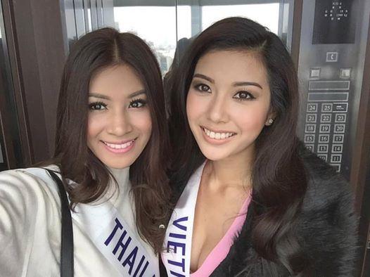 Thúy Vân và đại diện Thái Lan