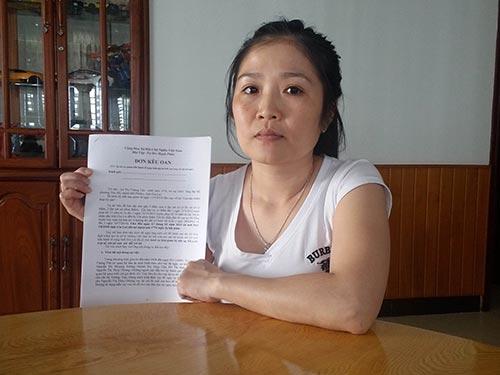 Bà Lê Thị Tường Vân cho biết đã gửi đơn kêu oan đến rất nhiều cơ quan, ban - ngành