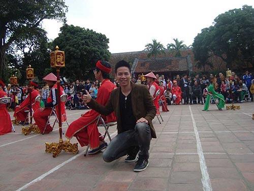 Admin Thăng Long kỳ đạo Phạm Thanh Trung tại một giải cờ người ở miền Bắc