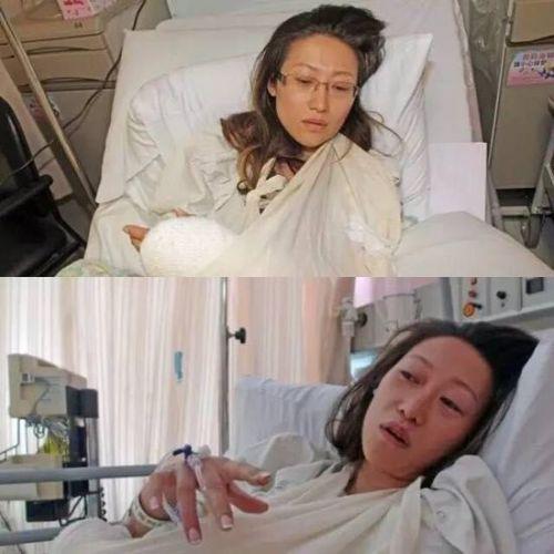 Cô phờ phạc tại bệnh viện sau khi thoát khỏi tay tử thần