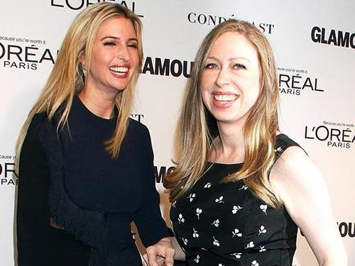 Ivanka Trump (trái) và Chelsea Clinton Ảnh: LOS ANGELES TIMES