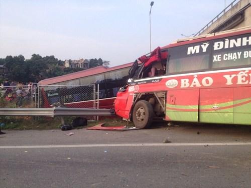 Hiện trường vụ tai nạn - Ảnh do cơ quan chức năng cung cấp