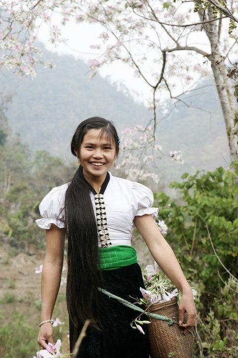 Nét đẹp mộc mạc của người con gái Thái - Ảnh: sưu tầm