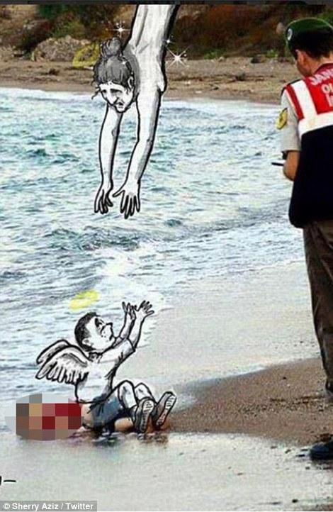 Hành trình cuối cùng của em bé di cư chết trên bờ biển