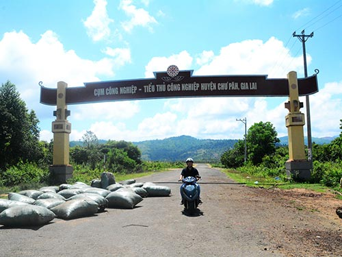 Cụm CN-TTCN huyện Chư Pah được đầu tư từ năm 2009, với diện tích hơn 52 ha đất nhưng hiện chỉ có 3 doanh nghiệp vào đầu tư