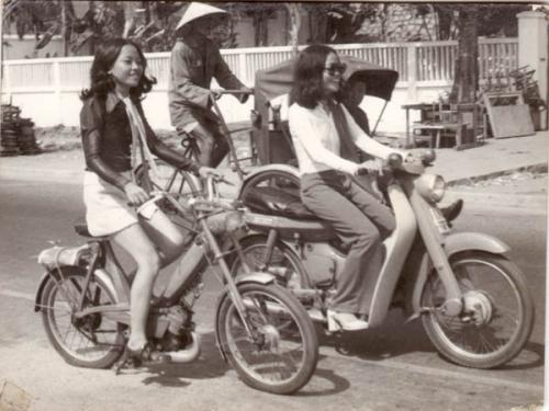 Mobylette khá giống với xe đạp