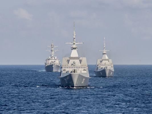 Tàu chiến của Mỹ. Ảnh: MC2 Joe Bishop/Navy