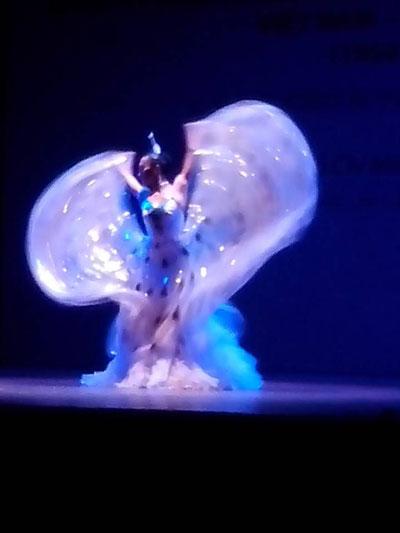 Một tiết mục múa của đoàn nghệ thuật Vân Nam trong đêm diễn tại TP HCM
