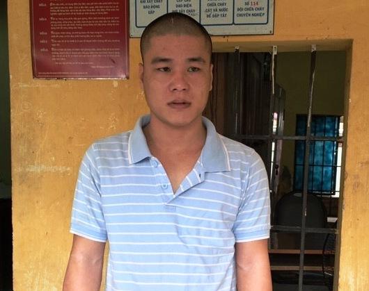 Lê Bảo Cường, Phạm Long Hổ và Nguyễn Ngọc Vĩnh Bình (từ trên xuống) tại cơ quan công an.