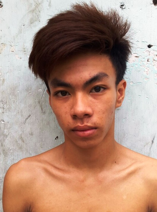 Bùi Quang Thái tại cơ quan công an